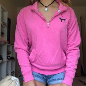 Quarter Zip PINK Sweatshirt